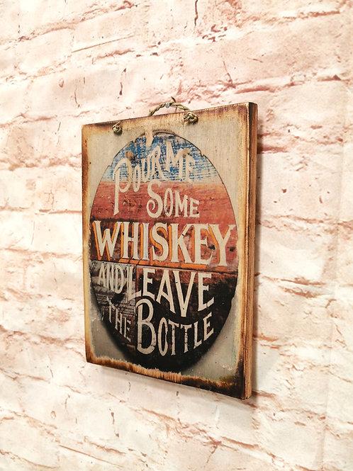 Whiskey Bottle Print