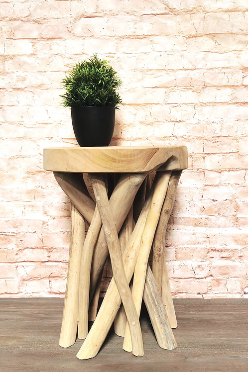 Twisted Root Stool / Side table