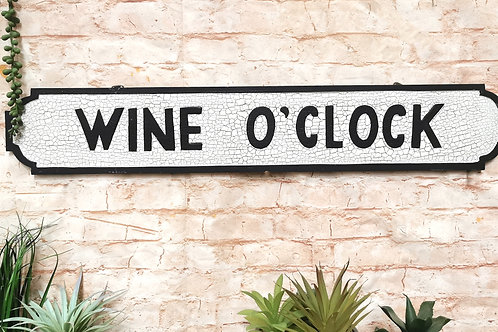 Wine O' Clock Street Sign