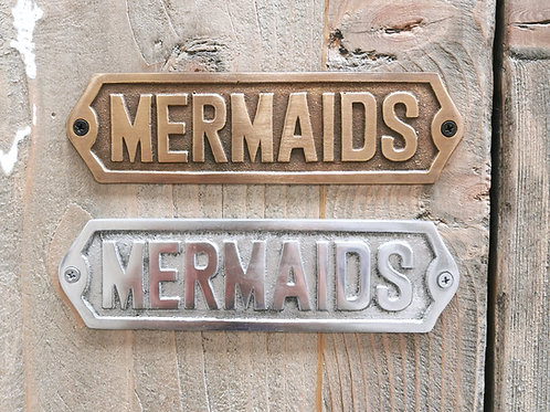 "Door Plate / Plaque ""Mermaids"""