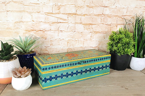 Turquoise Floral Box