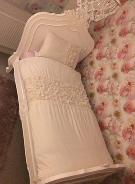 Single Classic bed Blanc