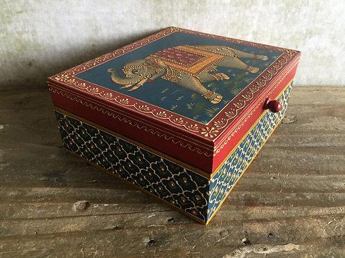 Elephant Painted Box