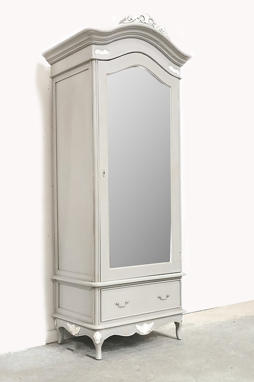 Marcella Single Armoire French Grey