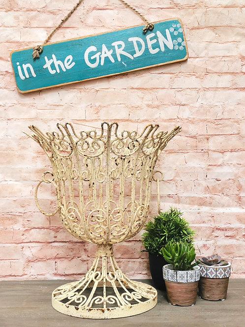 Cream Rustic Garden Urn
