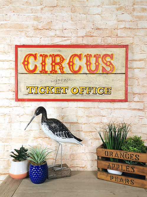 Circus Ticket Office Sign