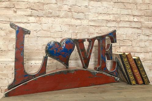 Reclaimed Oil Drum Love Sign