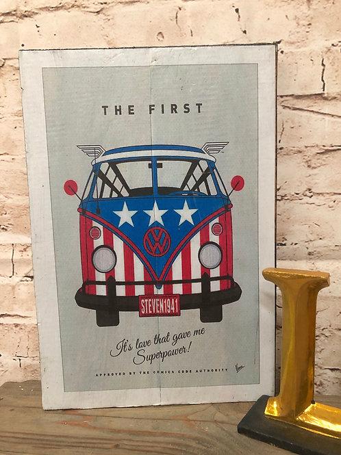 VW Campervan Vintage Print