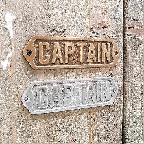 """Door Plate / Plaque """"Captain"""""""