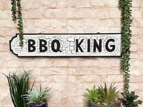 BBQ King Street Sign