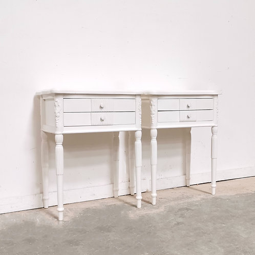 Lydia Bedside Pair White