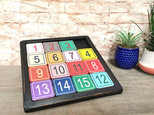 Wooden Numbers Game