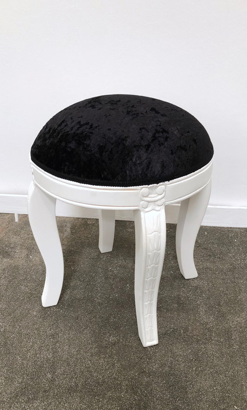 Hand Made With A Solid Mahogany Frame Our Round Dressing Table Stool Is The Perfect Accompanyment To Any Of Tables