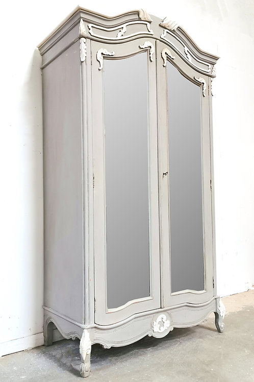 Chateau Armoire French Grey with White Accents