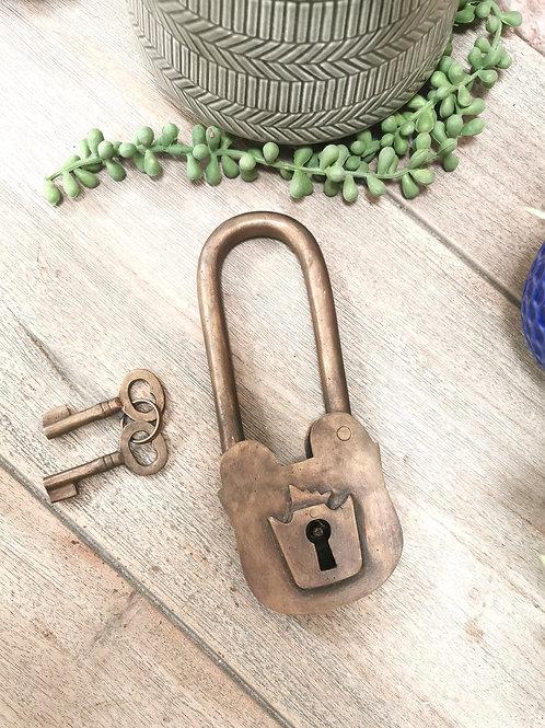 Large Brass Decorative Lock