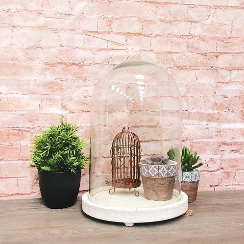 White Base Bell Jar