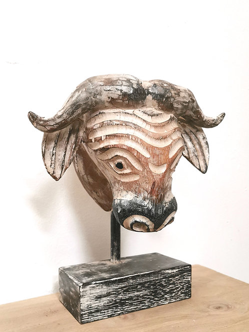 Buffalo Head on Stand