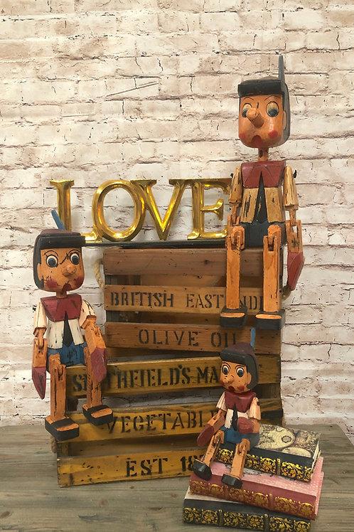 Vintage Pinocchio shelf sitters