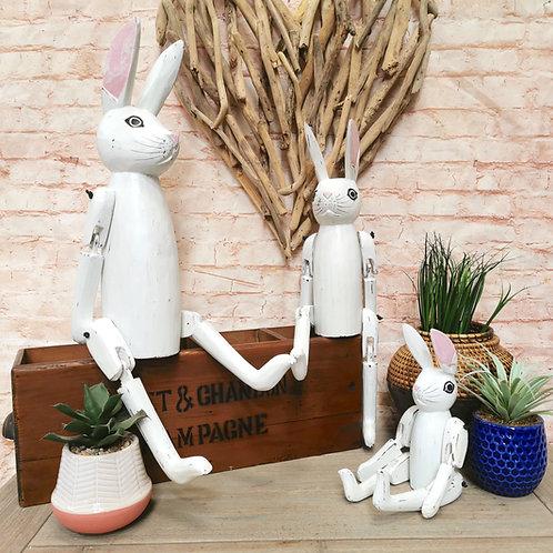 White Rabbit Shelf Sitters