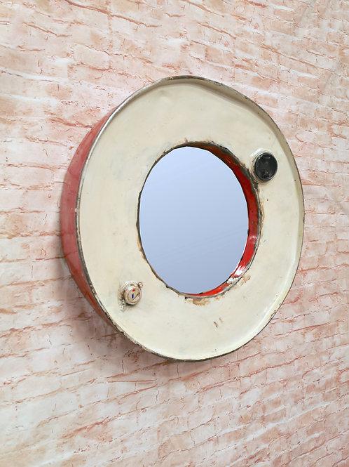 Reclaimed Oil Drum Mirror