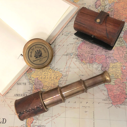 Telescope with Leather Case