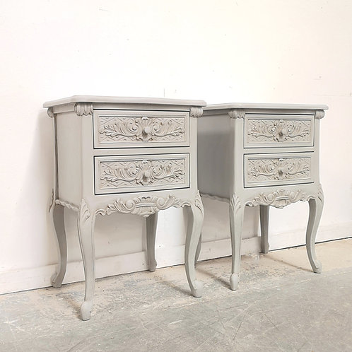 Rococo Bedsides French Grey