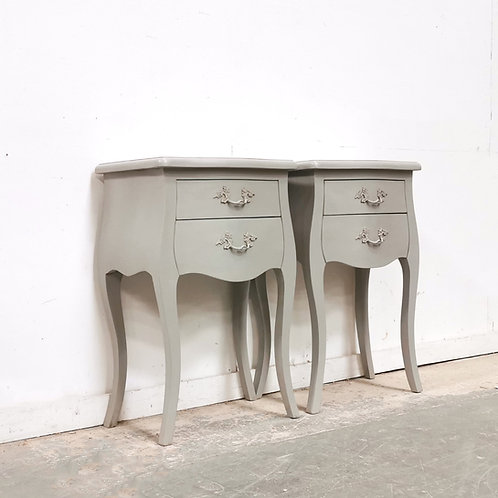 Louis Provencal French Grey Bedsides