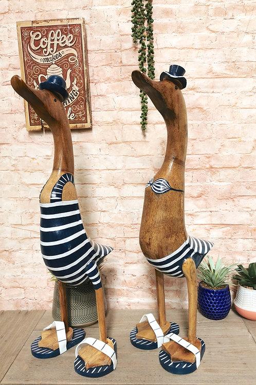 Jumbo Beach Duck Ornament