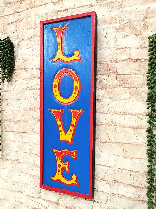 Blue Love Sign