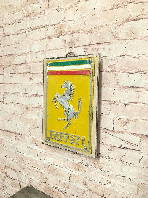 Ferrari Metal A4 Sign