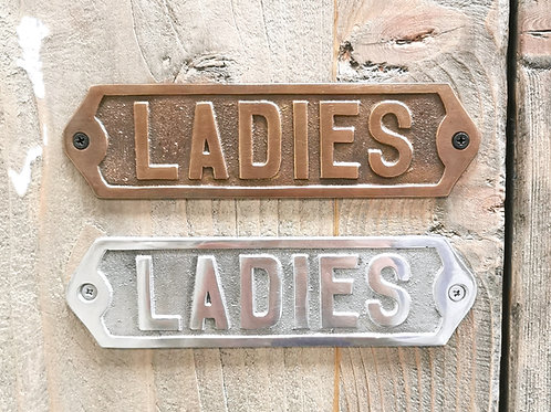 "Door Plate / Plaque ""Ladies"""