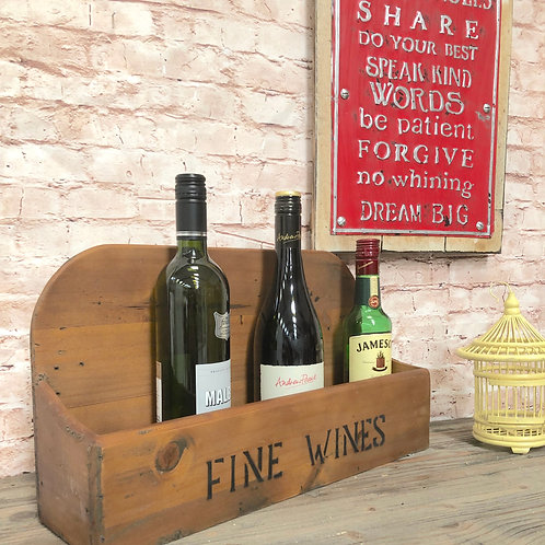 Fine Wines High Back Crate