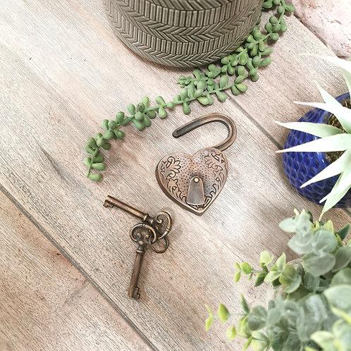 Brass Decorative Love Lock