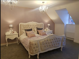 Joanna bed Blanc, Chateau Grande Bedsides Blanc