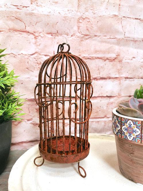 Miniature Bird Cage Tea Light Holder