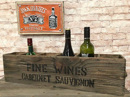 Fine Wines 6 Hole Wine Crate