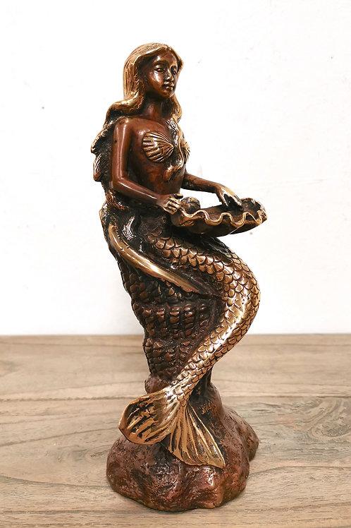 Brass Mermaid Sitting