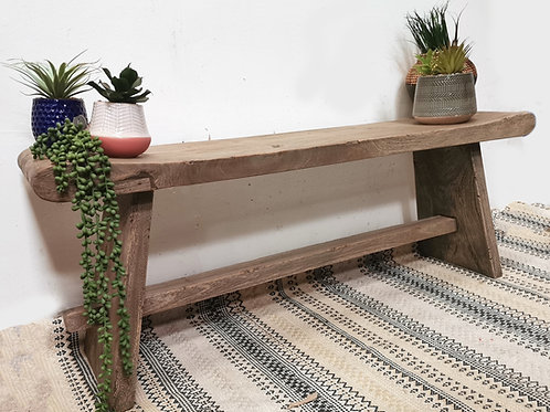 Teak Rustic Bench