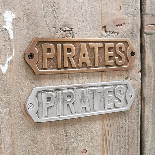 "Door Plate / Plaque ""Pirates"""