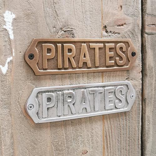 """Door Plate / Plaque """"Pirates"""""""