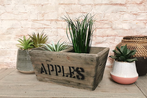 Rustic Apples Crate