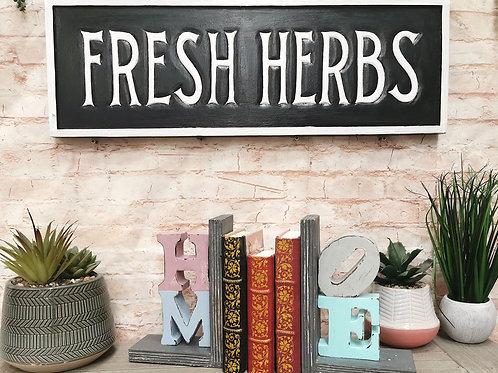 Fresh Herbs Vintage Sign