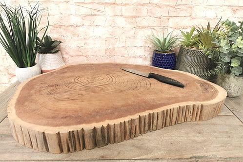Solid Teak Chunky 60cm Chopping Board
