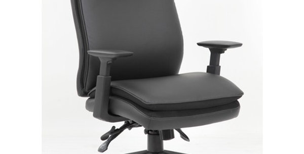 Lorell Premium Vinyl High-back Executive Chair