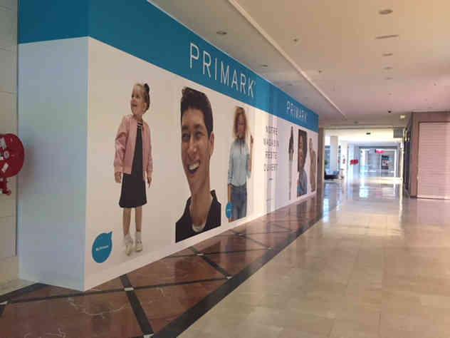 Création d'une palissade pour Primark