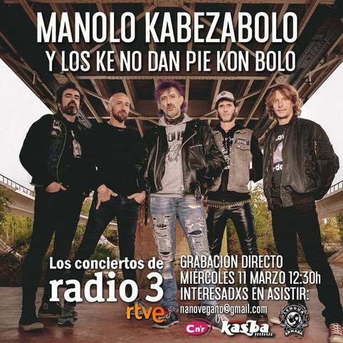 """Grabación de """"Los conciertos de Radio 3"""""""