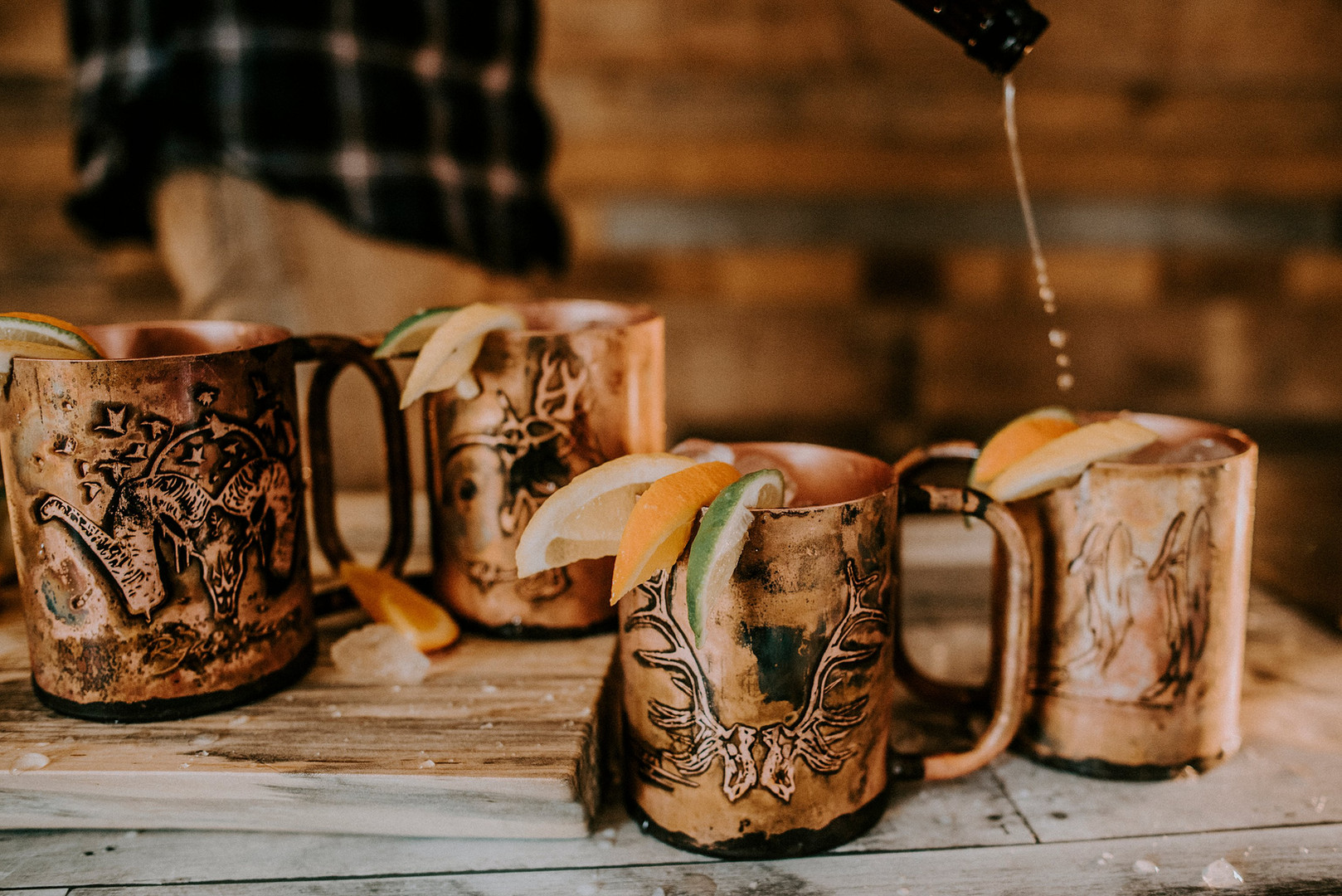 Handlebend Custom Copper Mugs