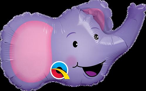 Elated Elephant Head Foil