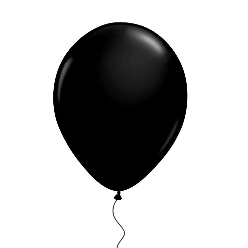 "11"" Black Helium Balloon"