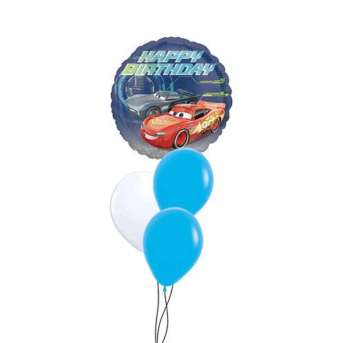 Cars Happy Birthday Cluster